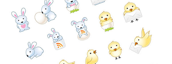 cute easter eggs designs. Easter Bunny Icons